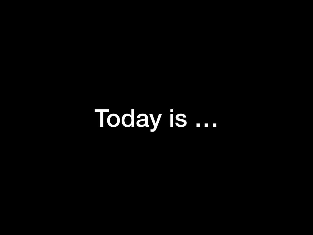 Today is …