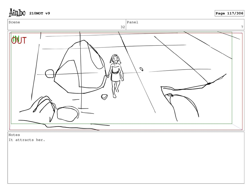 Scene 32 Panel 7 Notes It attracts her. 210MOT ...