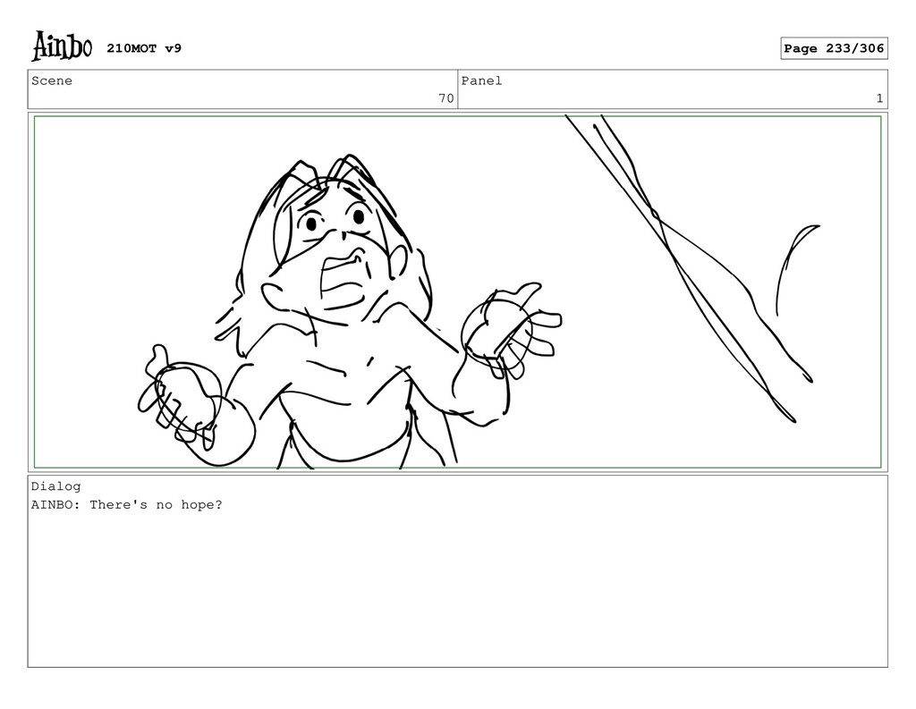 Scene 70 Panel 1 Dialog AINBO: There's no hope?...