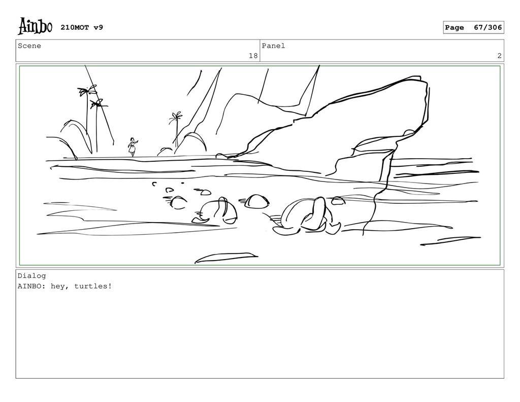 Scene 18 Panel 2 Dialog AINBO: hey, turtles! 21...