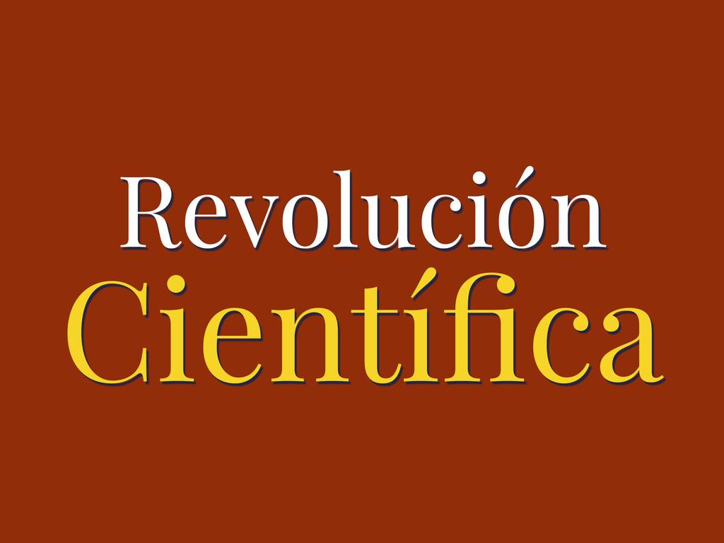 Científica Revolución