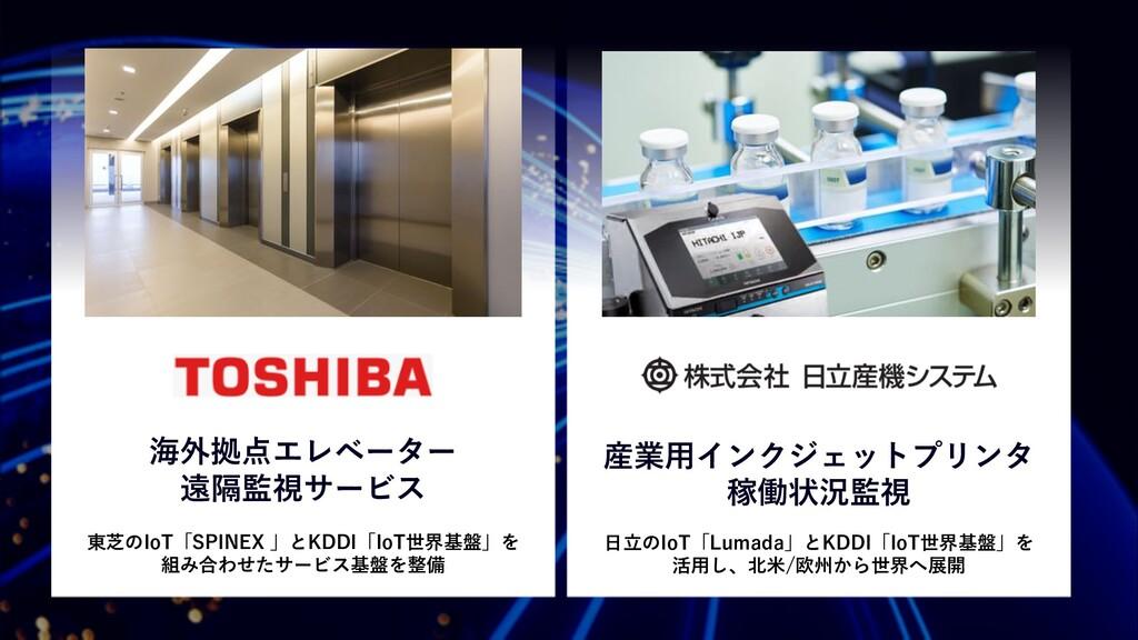 東芝のIoT「SPINEX 」とKDDI「IoT世界基盤」を 組み合わせたサービス基盤を整備 ...