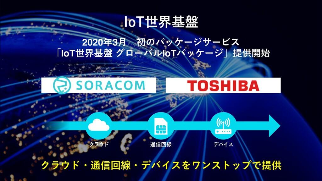 IoT世界基盤 クラウド・通信回線・デバイスをワンストップで提供 2020年3⽉ 初のパッケー...