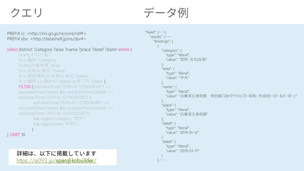 25 クエリ データ例 PREFIX ic: <http://imi.go.jp/ns/cor...