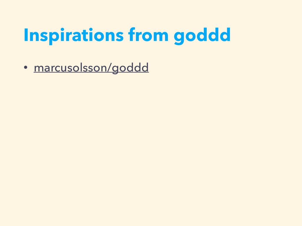 Inspirations from goddd • marcusolsson/goddd