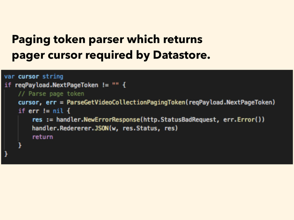 Paging token parser which returns pager cursor ...