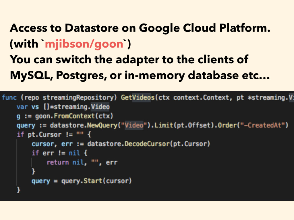Access to Datastore on Google Cloud Platform. (...