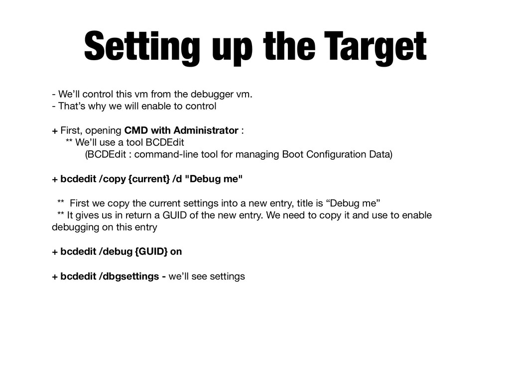 Setting up the Target - We'll control this vm f...