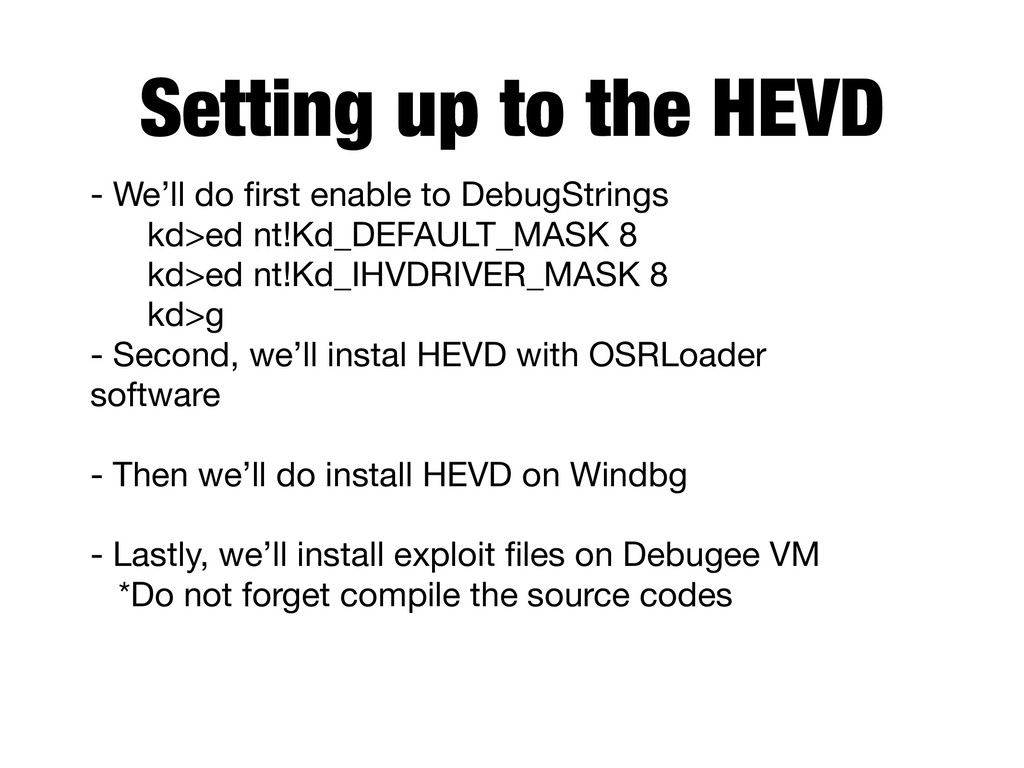 - We'll do first enable to DebugStrings kd>ed ...