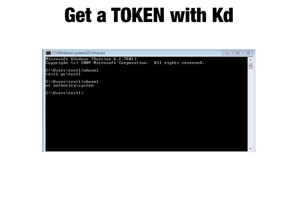 Get a TOKEN with Kd