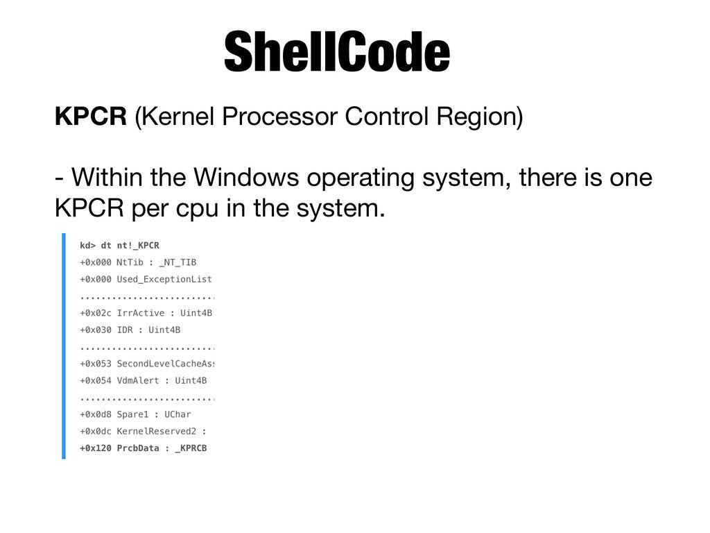 KPCR (Kernel Processor Control Region)  - Withi...