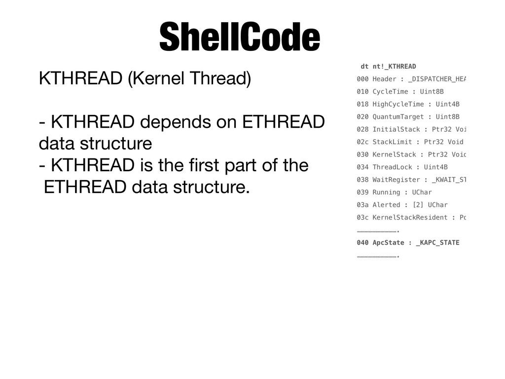 KTHREAD (Kernel Thread)  - KTHREAD depends on E...