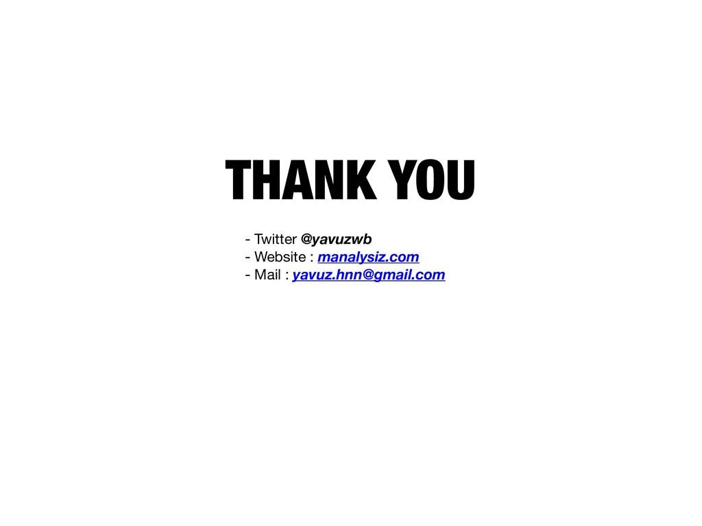 THANK YOU - Twitter @yavuzwb - Website : manal...