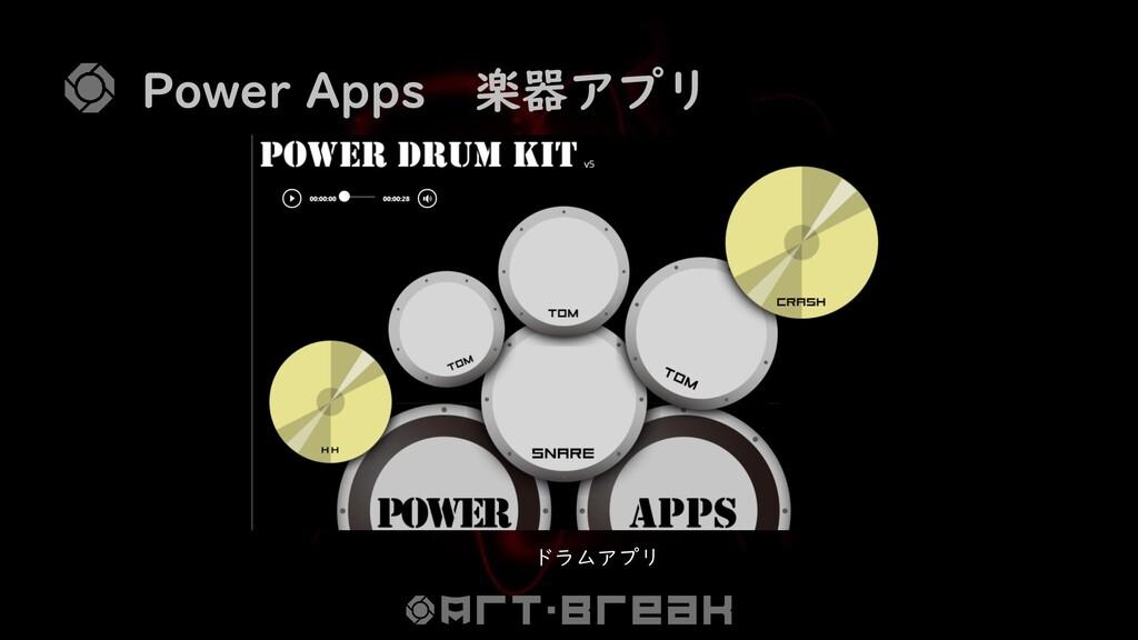 Power Apps 楽器アプリ ドラムアプリ