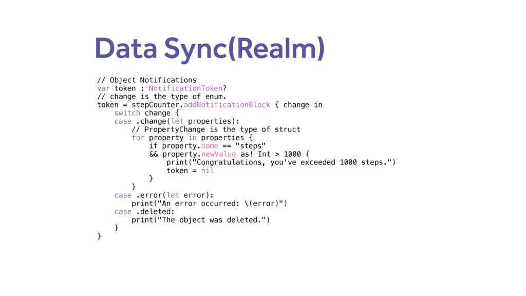 Data Sync(Realm) // Object Notifications var to...