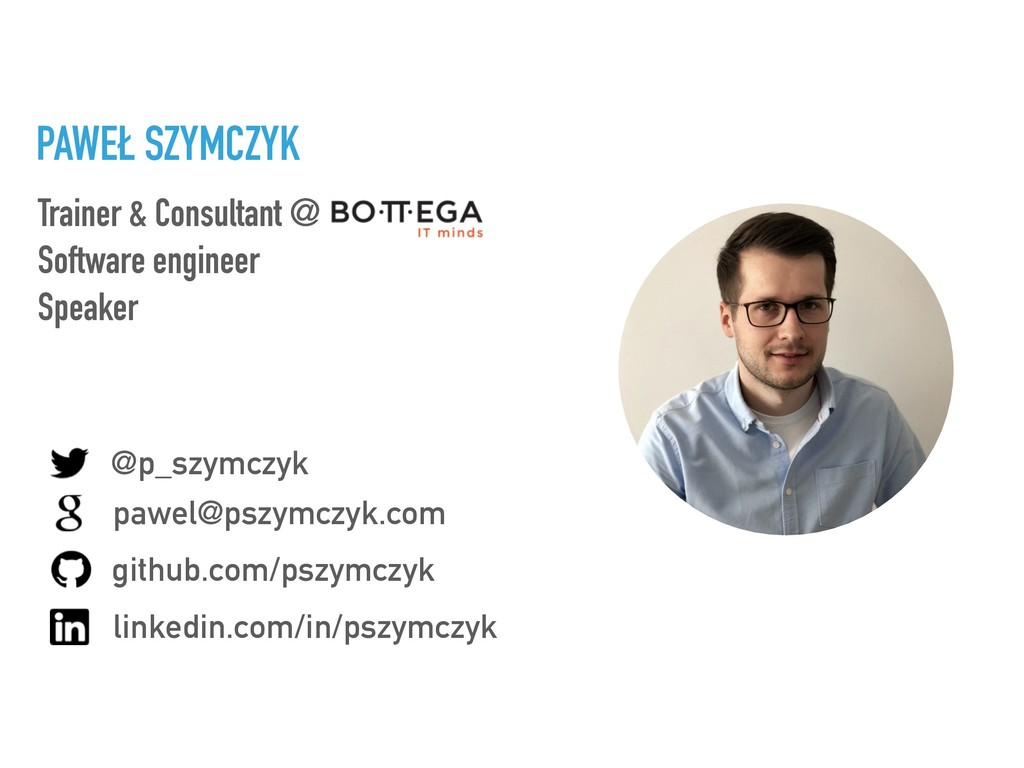 Trainer & Consultant @ Software engineer Speake...