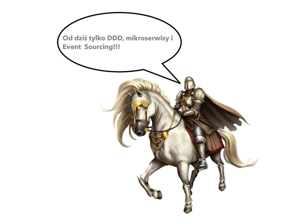 Od dziś tylko DDD, mikroserwisy i Event Sourcin...