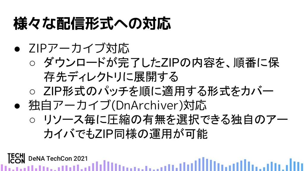 ● ZIPアーカイブ対応 ○ ダウンロードが完了したZIPの内容を、順番に保 存先ディレクトリ...