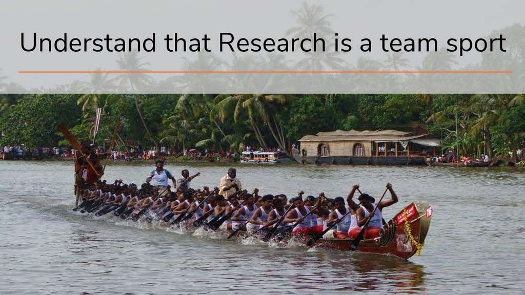 18 Understand that Research is a team sport