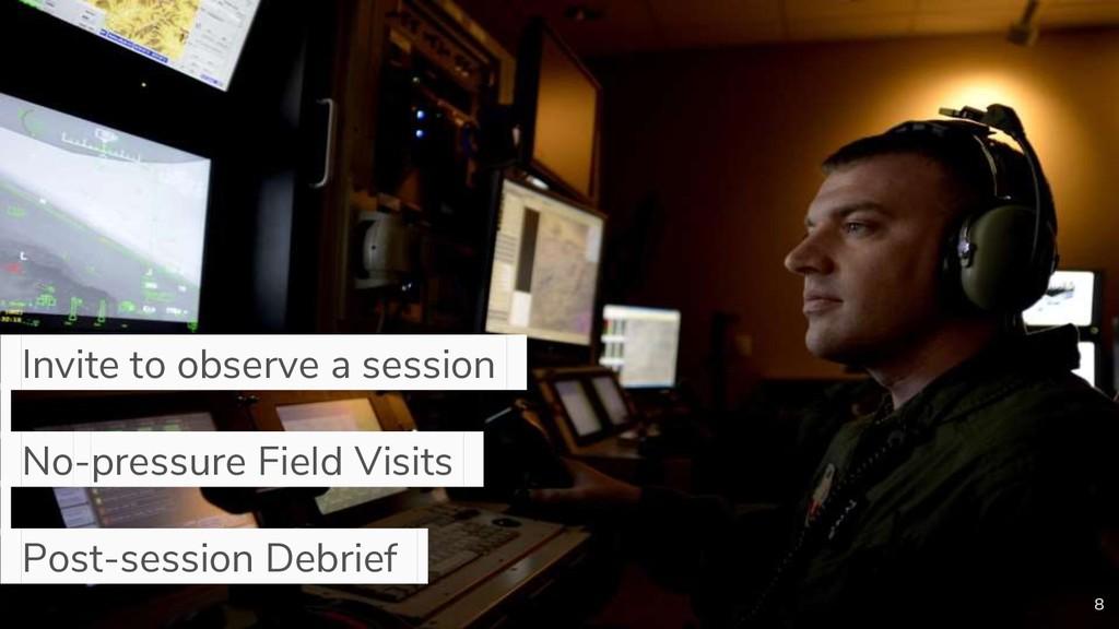 8 Invite to observe a session . No-pressure Fie...