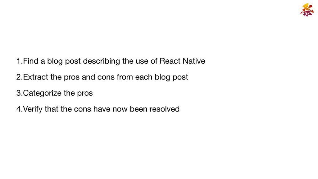 1.Find a blog post describing the use of React ...