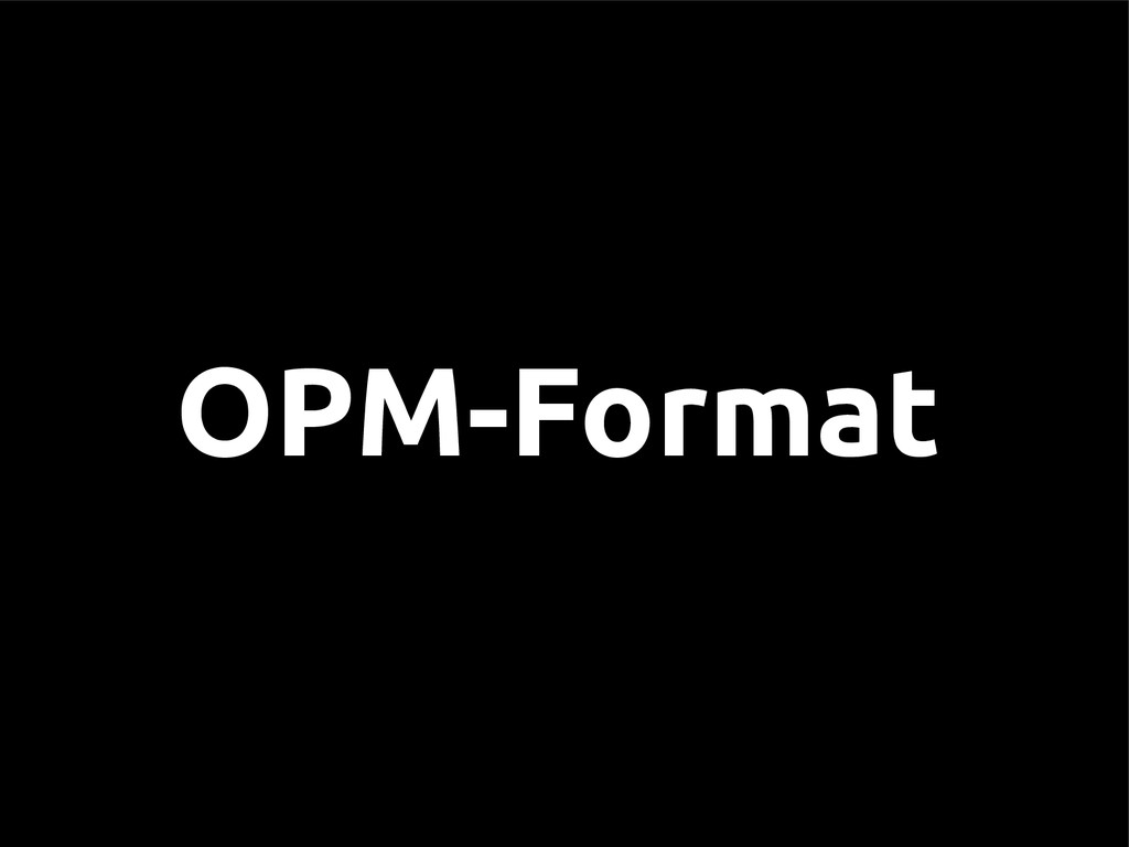 OPM-Format