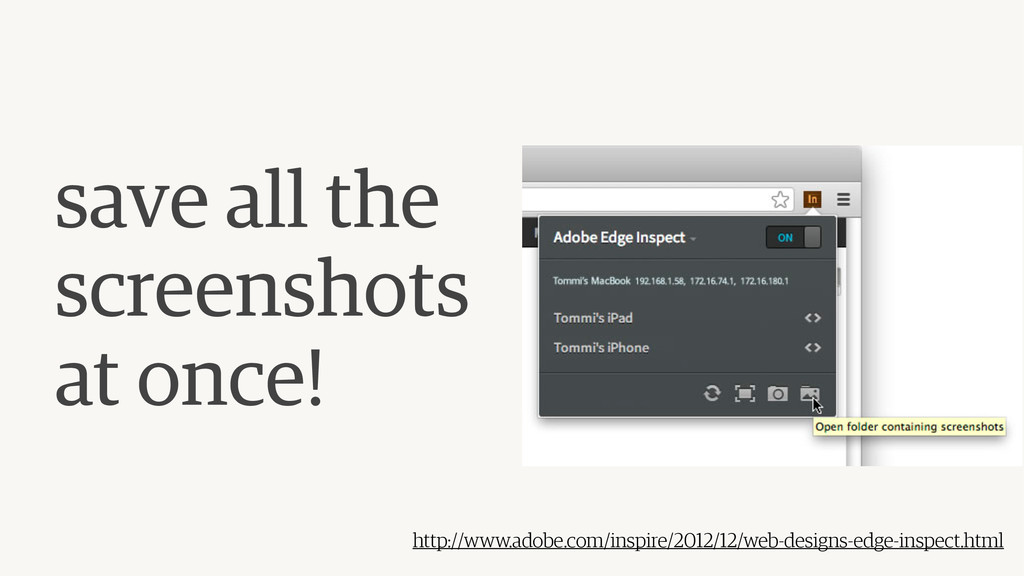 save all the  screenshots at once! http://www....
