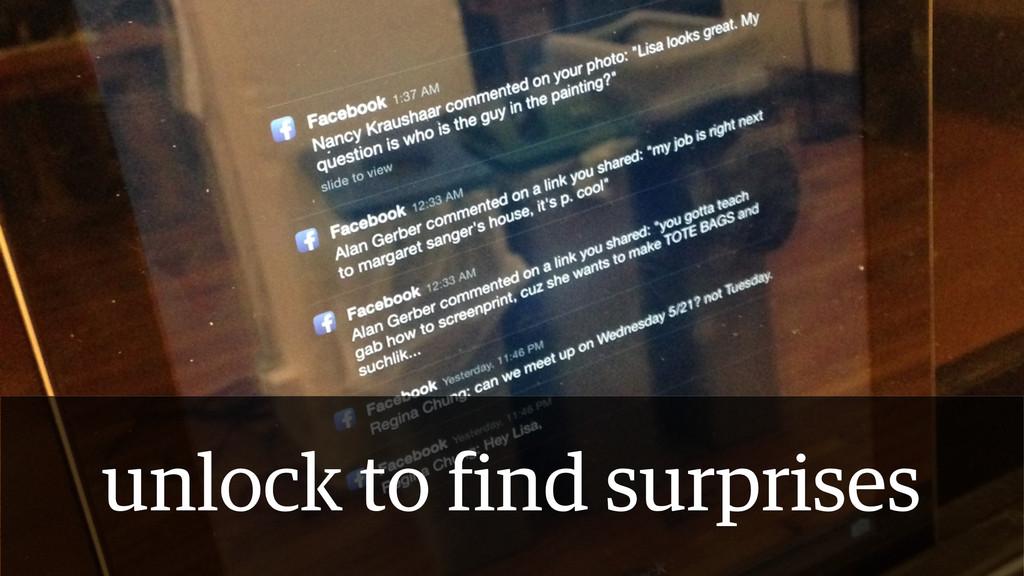 unlock to find surprises