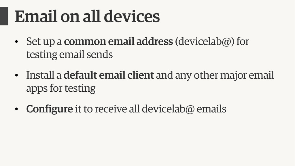 Email on all devices • Set up a common email ad...