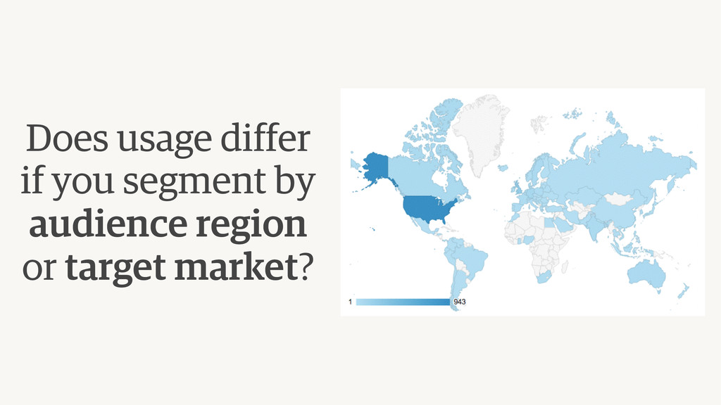 Does usage differ if you segment by audience r...