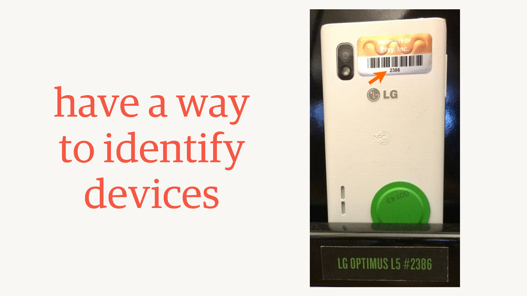have a way to identify devices
