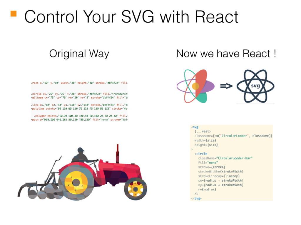 Control Your SVG with React Original Way Now we...