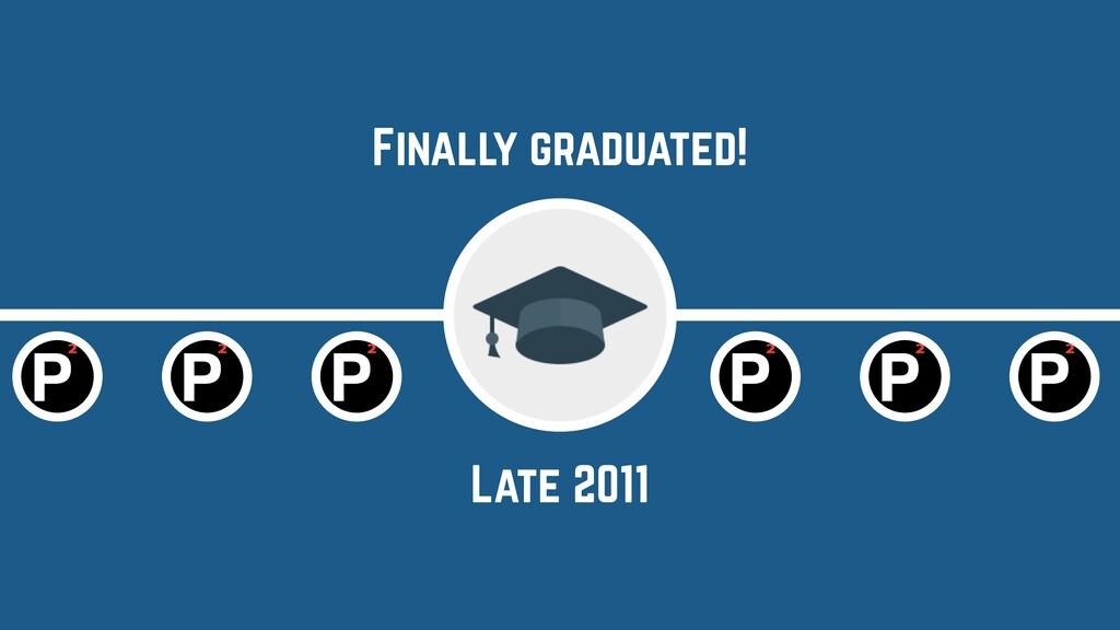 Late 2011 Finally graduated!
