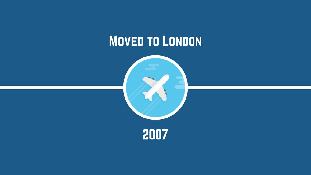 2007 Moved to London