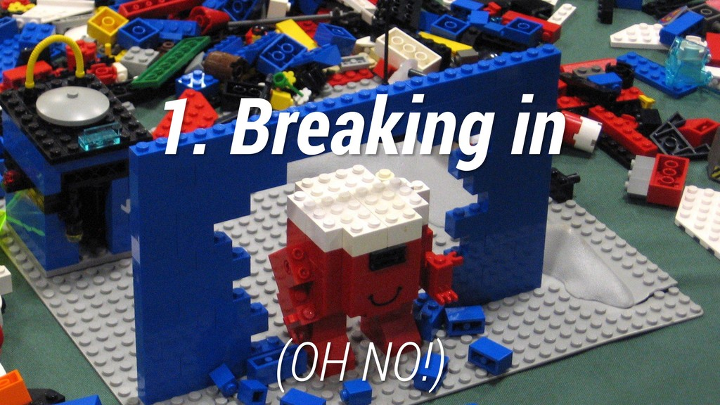1. Breaking in (OH NO!)