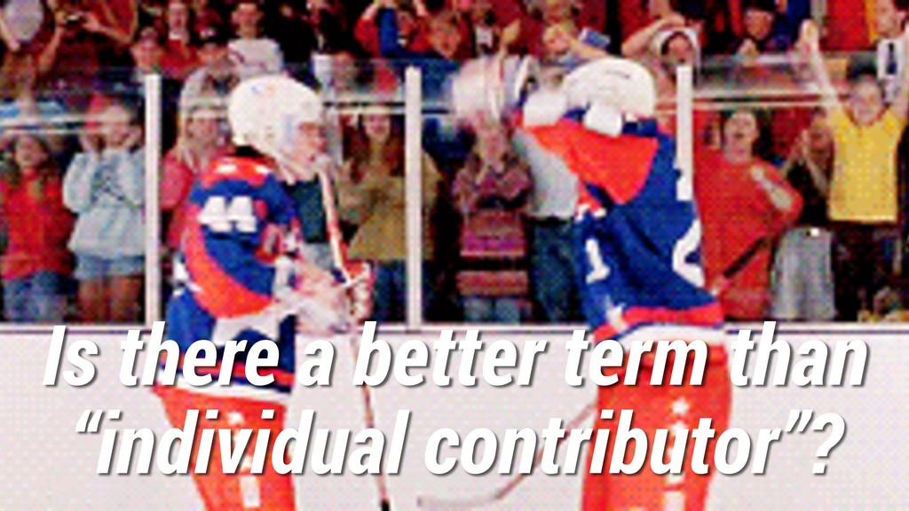 "Is there a better term than ""individual contrib..."