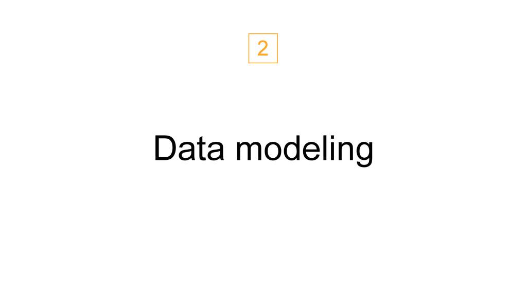 Data modeling 2