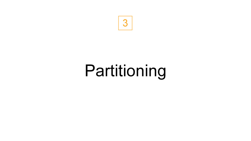 Partitioning 3