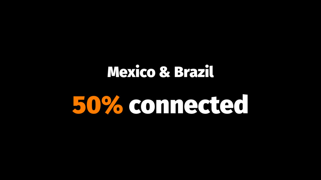 Mexico & Brazil 50% connected