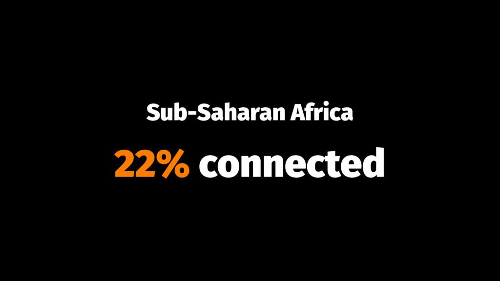 Sub-Saharan Africa 22% connected