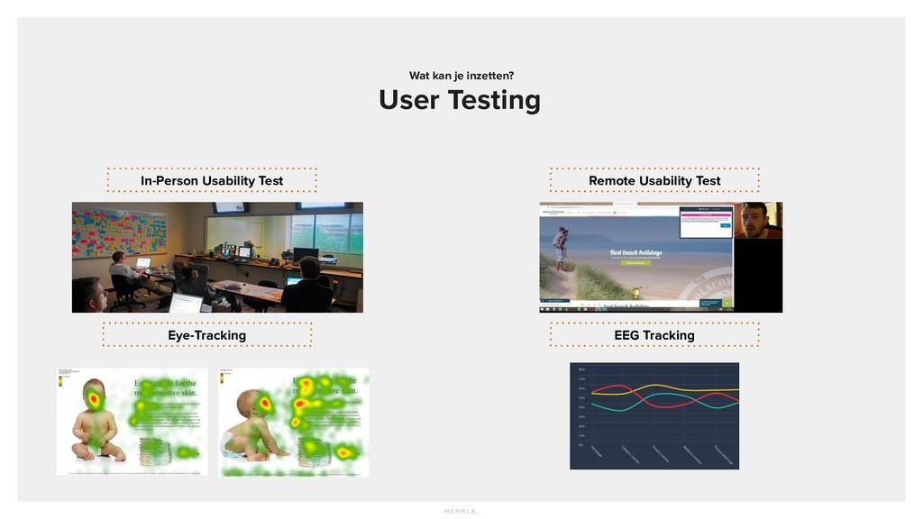 Wat kan je inzetten? User Testing In-Person Usa...