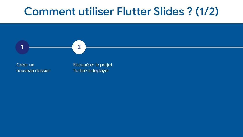 Comment utiliser Flutter Slides ? (1/2) 1 Créer...