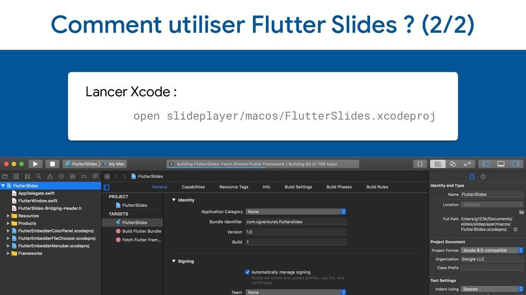 Comment utiliser Flutter Slides ? (2/2) Lancer ...