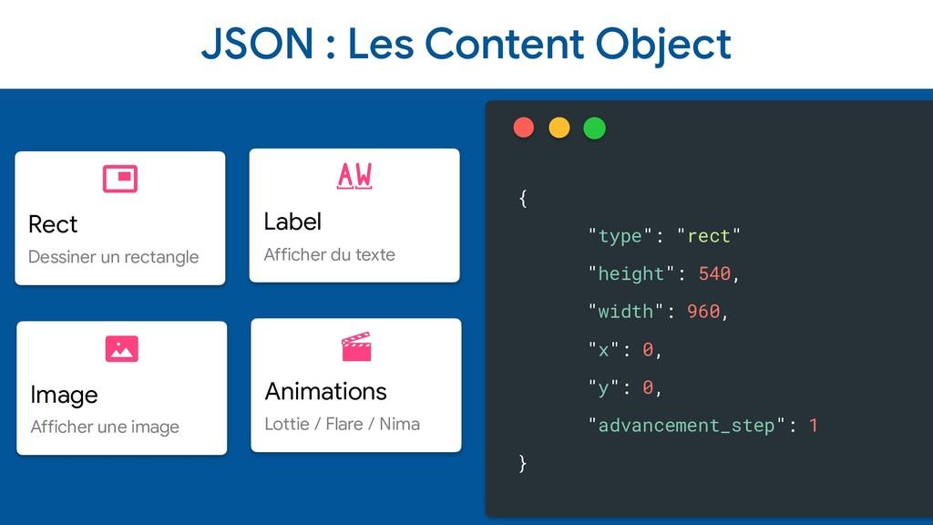 JSON : Les Content Object Rect  Dessiner un rec...
