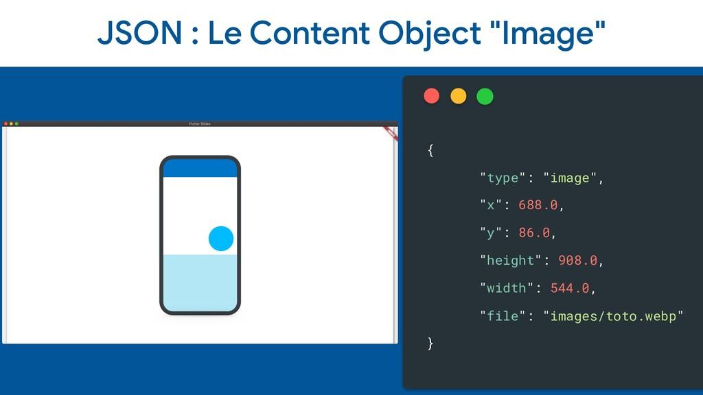 "JSON : Le Content Object ""Image"" { ""type"": ""ima..."