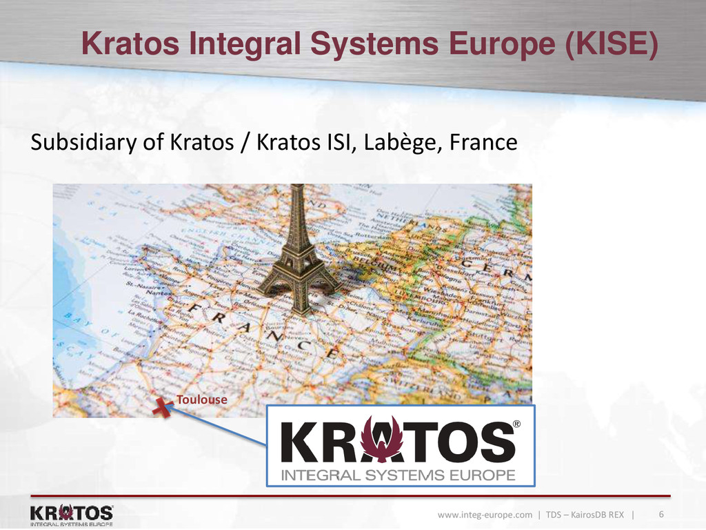 6 www.integ-europe.com | TDS – KairosDB REX | K...
