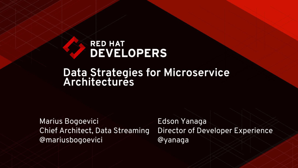 Data Strategies for Microservice Architectures ...