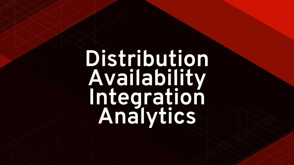 Distribution Availability Integration Analytics