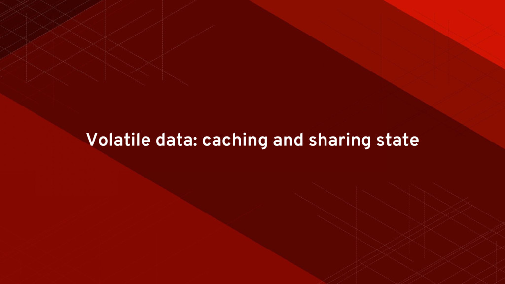 Volatile data: caching and sharing state