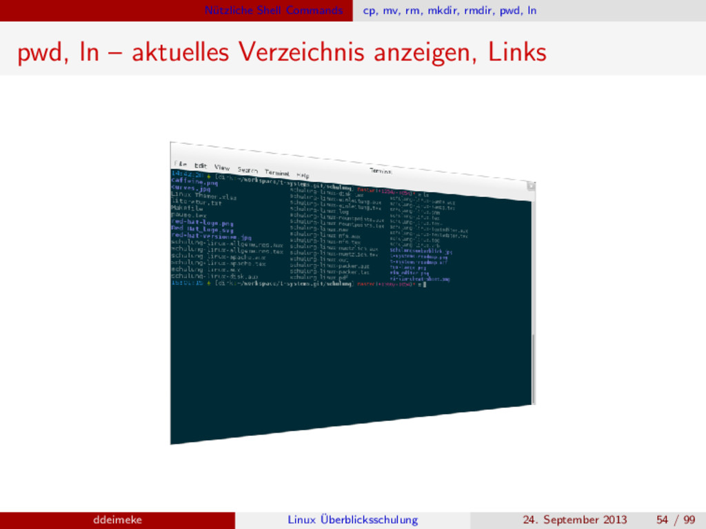 N¨ utzliche Shell Commands cp, mv, rm, mkdir, r...